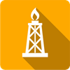CSG icon depicted by a white tower with a flame on an orange square