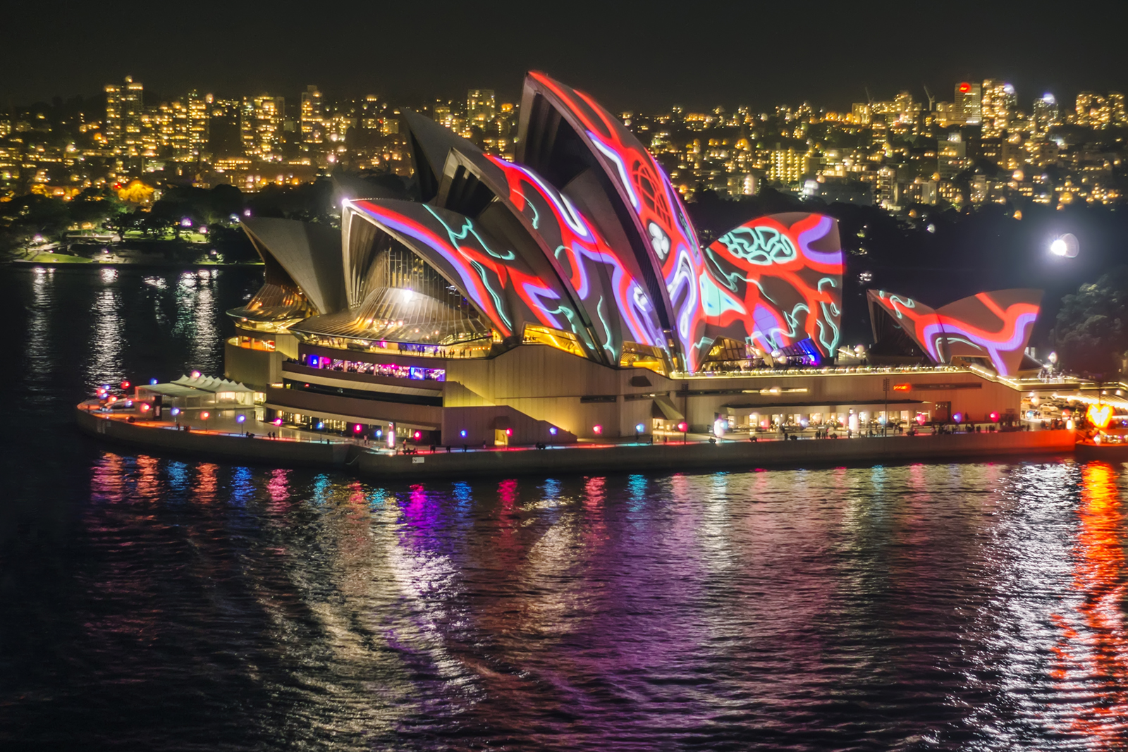 Sydney Opera House with VIVID Sydney light projections